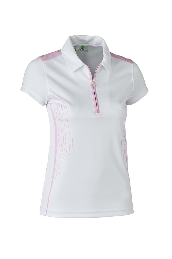 Picture of Daily Sports ZNS Memphis Cap Sleeve Polo Shirt - Rose