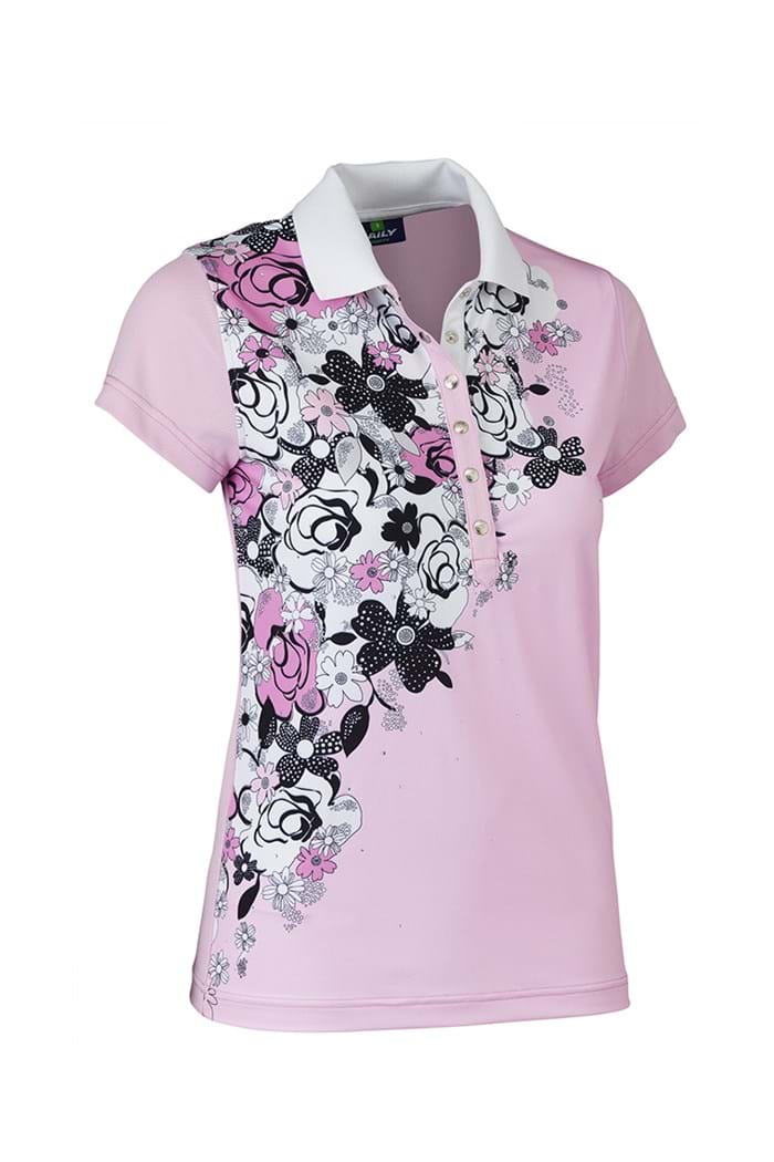 Picture of Daily Sports ZNS Nell Cap Sleeved Polo Shirt - Rose