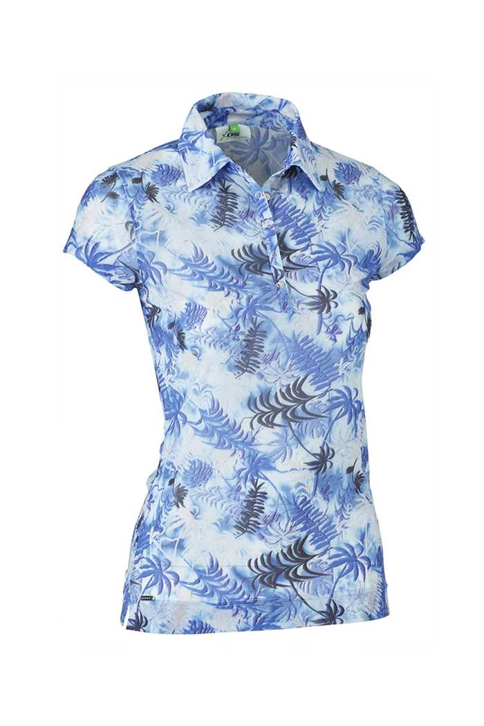 Picture of Daily Sports zns Renata Cap Sleeve Polo Shirt - Blue Bell