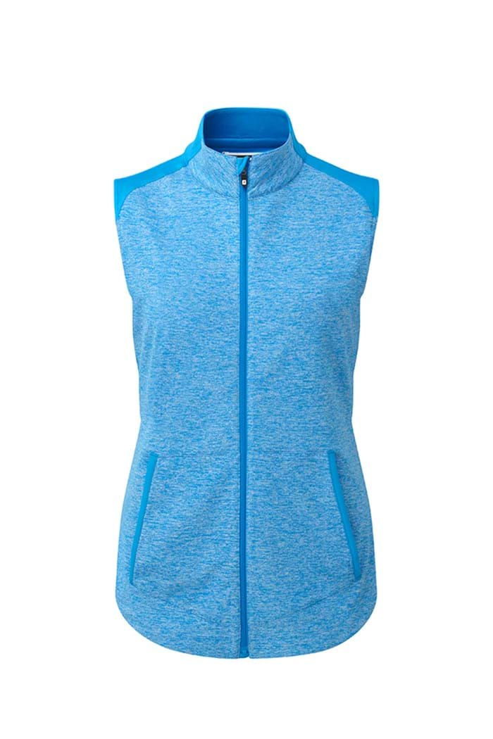 Picture of Footjoy Brushed Chillout Vest - Blue Space Dye