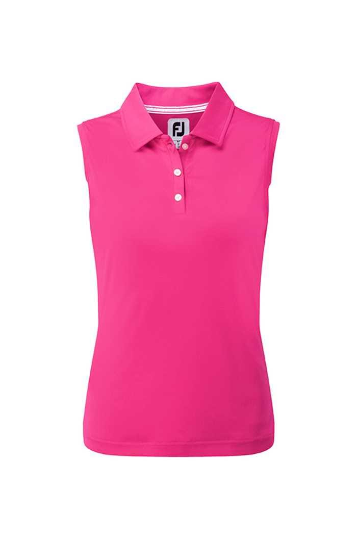 Picture of Footjoy ZNS Interlock Sleeveless Polo Shirt - Berry