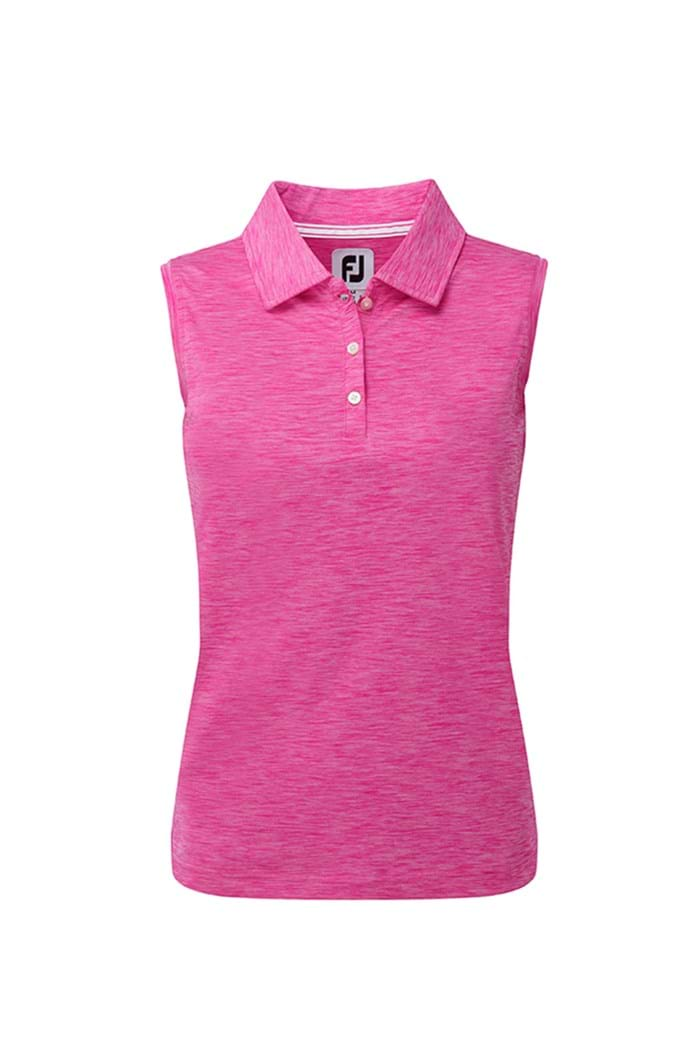 Picture of Footjoy ZNS Interlock Sleeveless Polo Shirt - Berry Jersey Dye