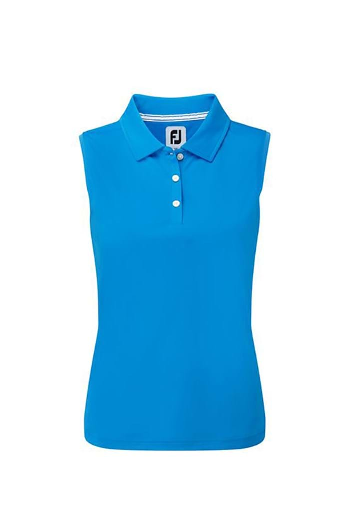 Picture of Footjoy ZNS Interlock Sleeveless Polo Shirt - Electric Blue