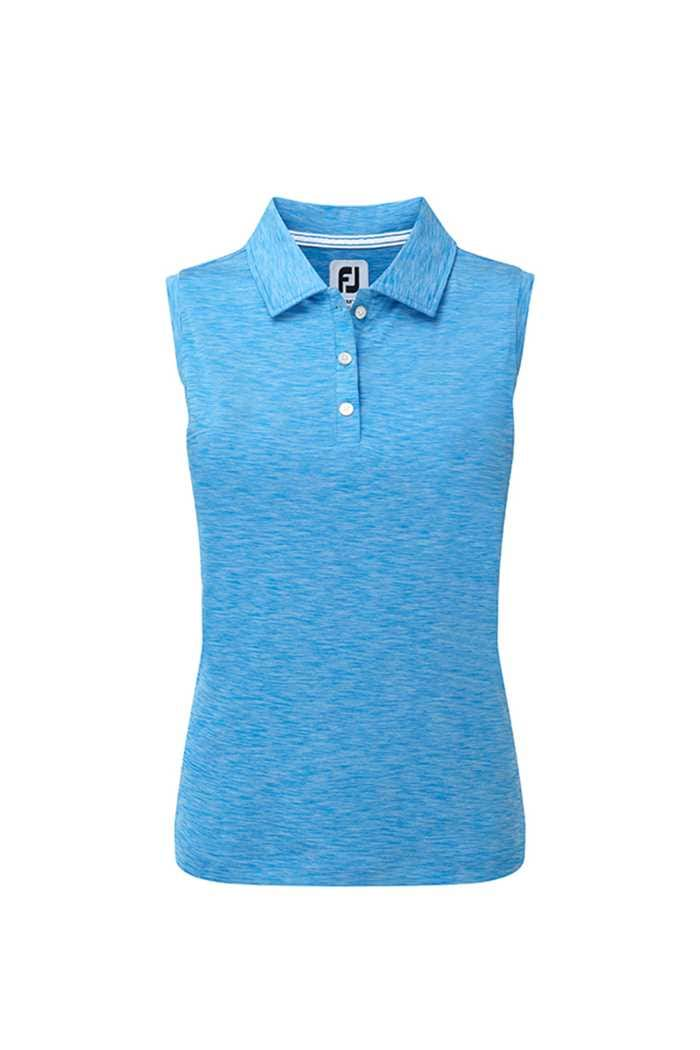 Picture of Footjoy ZNS Interlock Sleeveless Polo Shirt - Electric Blue Jersey Dye