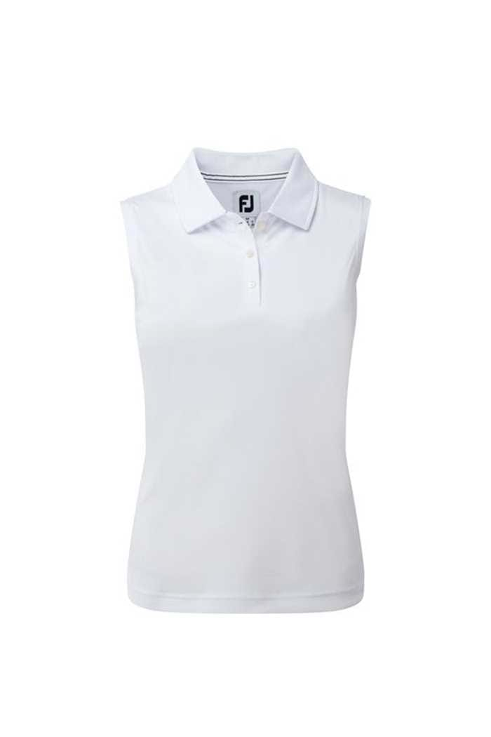 Picture of Footjoy zns Interlock Sleeveless Polo Shirt - White