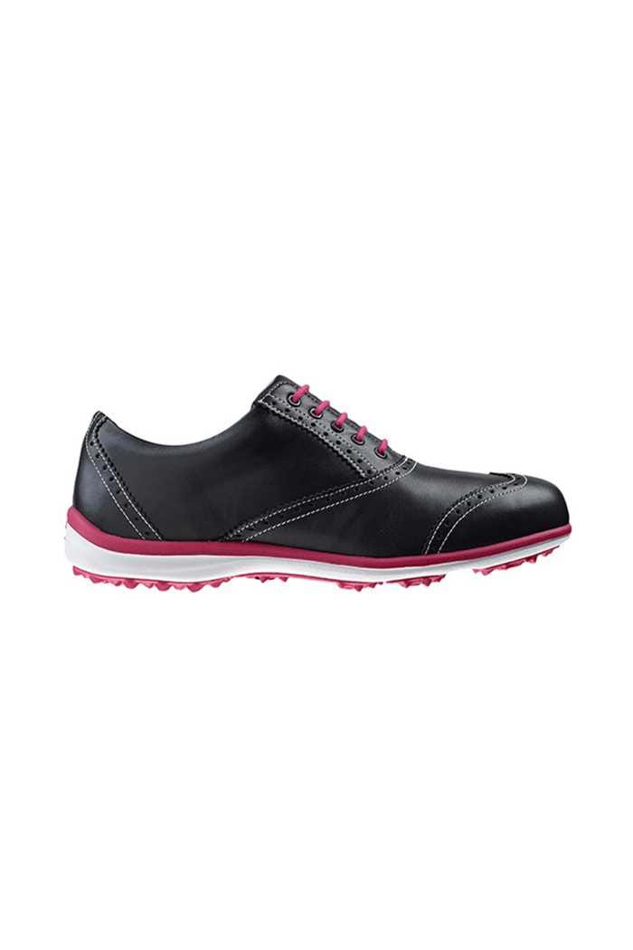 Picture of Footjoy zns Ladies Casual Collection Golf Shoes - Black/Fushia