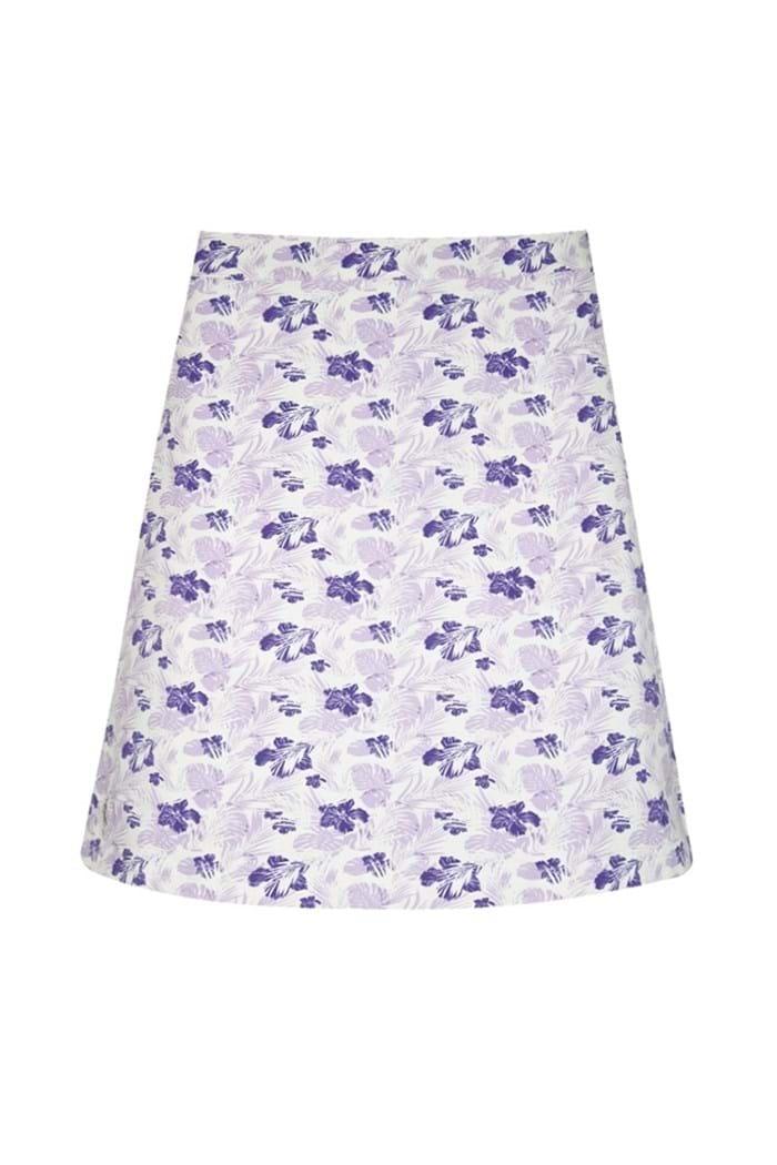 Picture of Glenmuir  zns Celestine Printed Skort/Skirt - White/Royal Purple