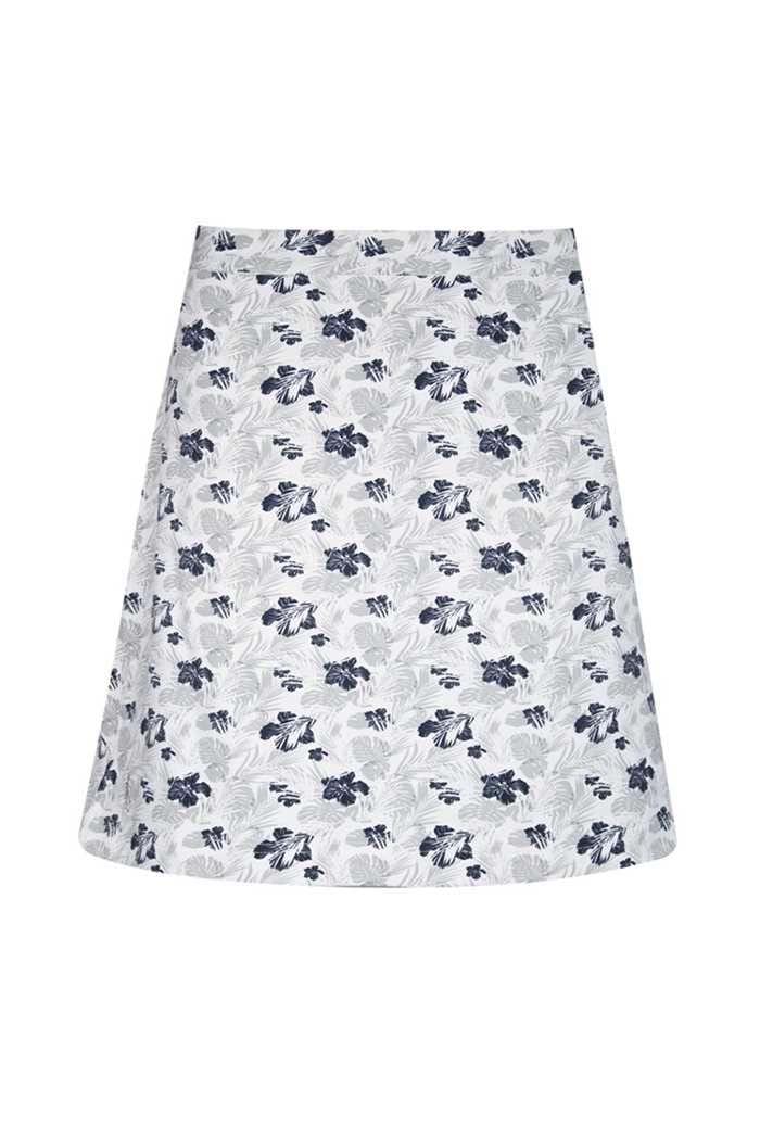 Picture of Glenmuir Celestine Printed Skort/Skirt - White/Startdust/Navy