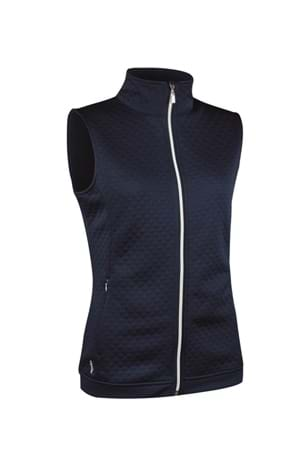 Picture of Glenmuir Amal Diamond Front Gilet - Navy