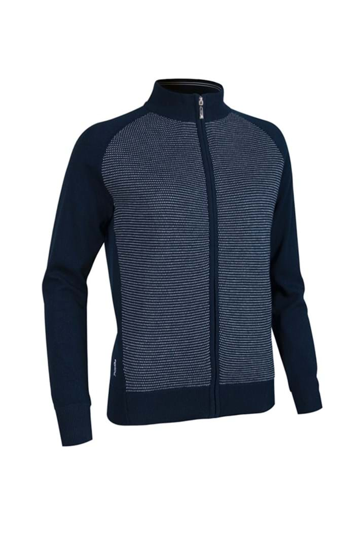 Picture of Glenmuir Luella Lined Cardigan - Navy/White