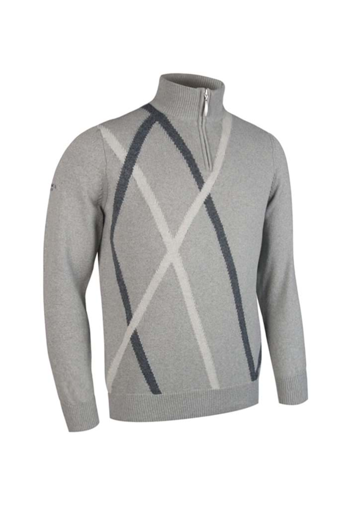Picture of Glenmuir Middleton Zip Neck Sweater - Soft Grey