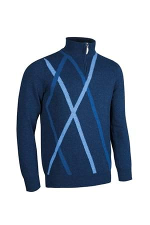 Picture of Glenmuir Middleton Zip Neck Sweater - Navy Marl