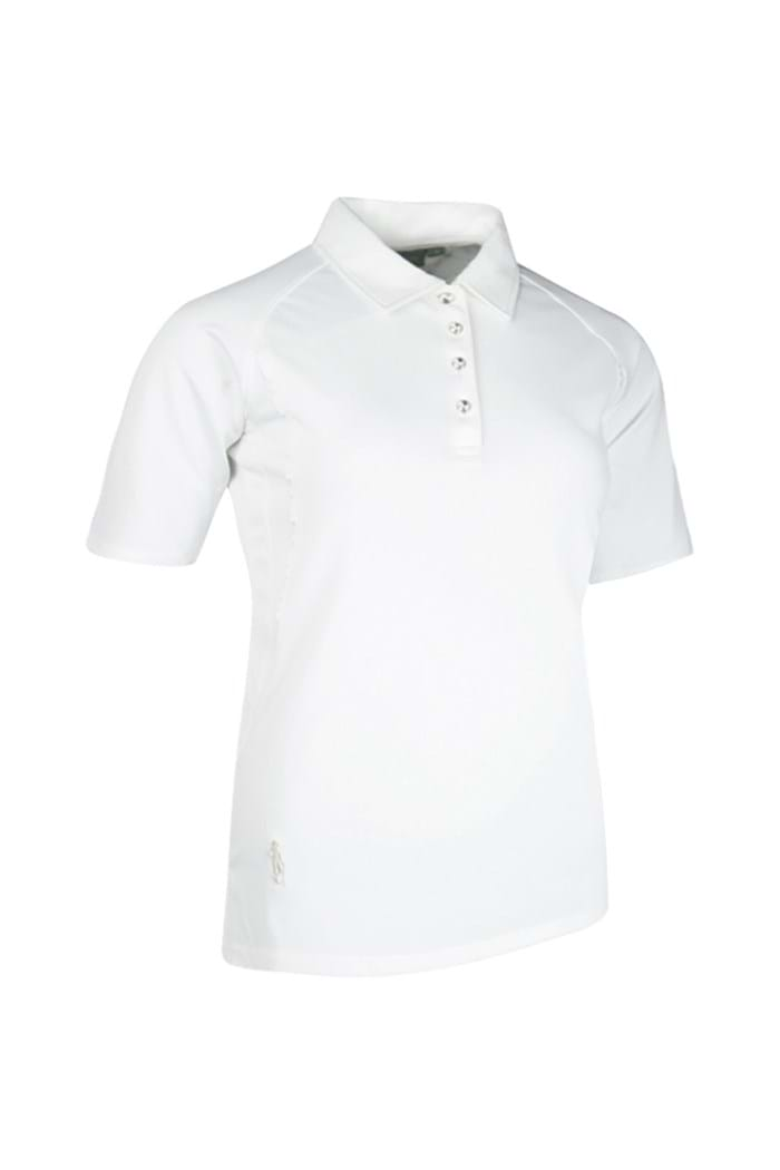 Picture of Glenmuir ZNS Renee Pipied Performance Polo Shirt - White