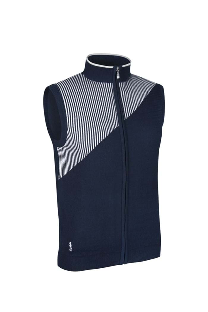 Picture of Glenmuir Rosamund Patterned Cotton Gilet - Navy/Star Dust