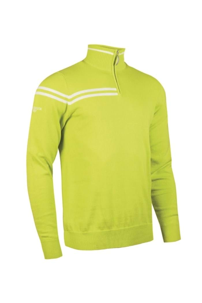 Picture of Glenmuir Salisbury 1/2 Zip Sweater - Lime/White