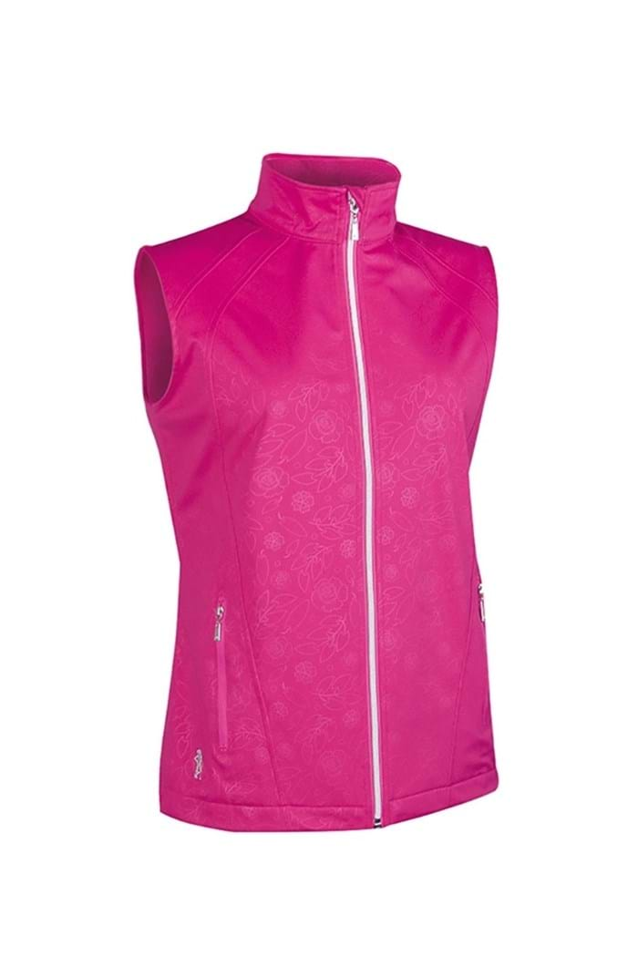 Picture of Glenmuir zns Selma Embossed Patterned Gilet - Hot Magenta