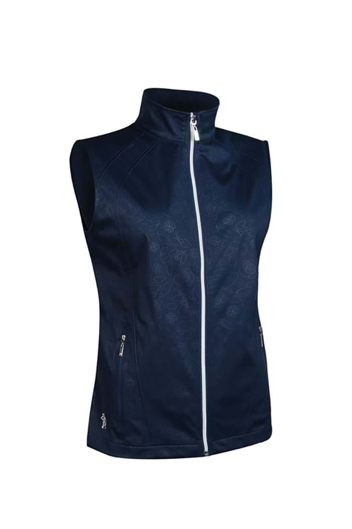 Picture of Glenmuir ZNS Selma Embossed Patterned Gilet - Navy