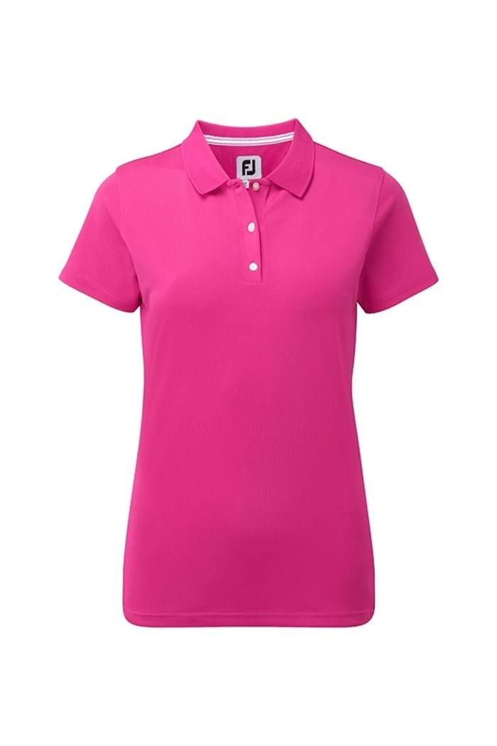Picture of Footjoy Stretch ZNS Pique Polo Shirt - Berry