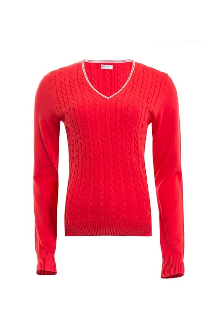Picture of Green Lamb ZNS Bailey Cable Sweater - Berry