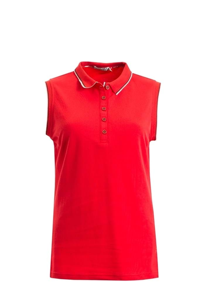 Picture of Green Lamb ZNS Faith Sleeveless Club Polo Shirt - Berry