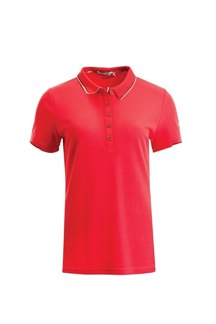 Picture of Green Lamb ZNS Farrah Club Polo Shirt - Berry
