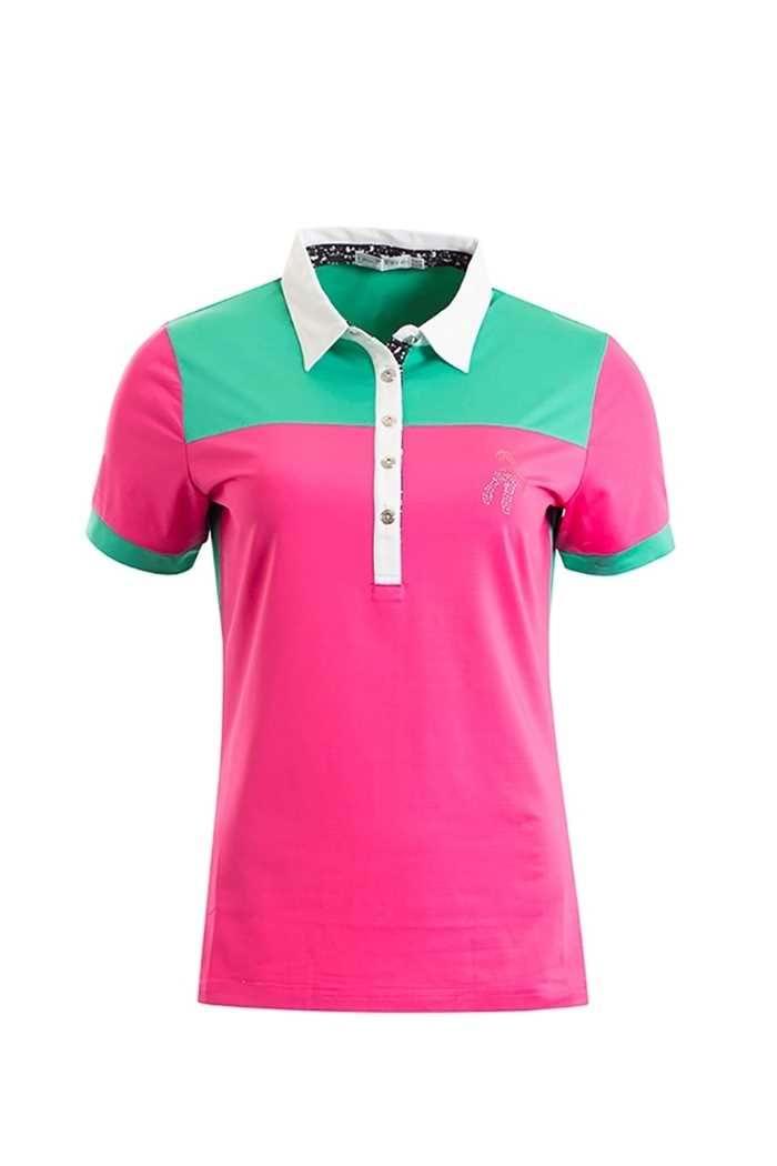 Picture of Green Lamb ZNS Felicia Polo Shirt - Fuchsia/Jade
