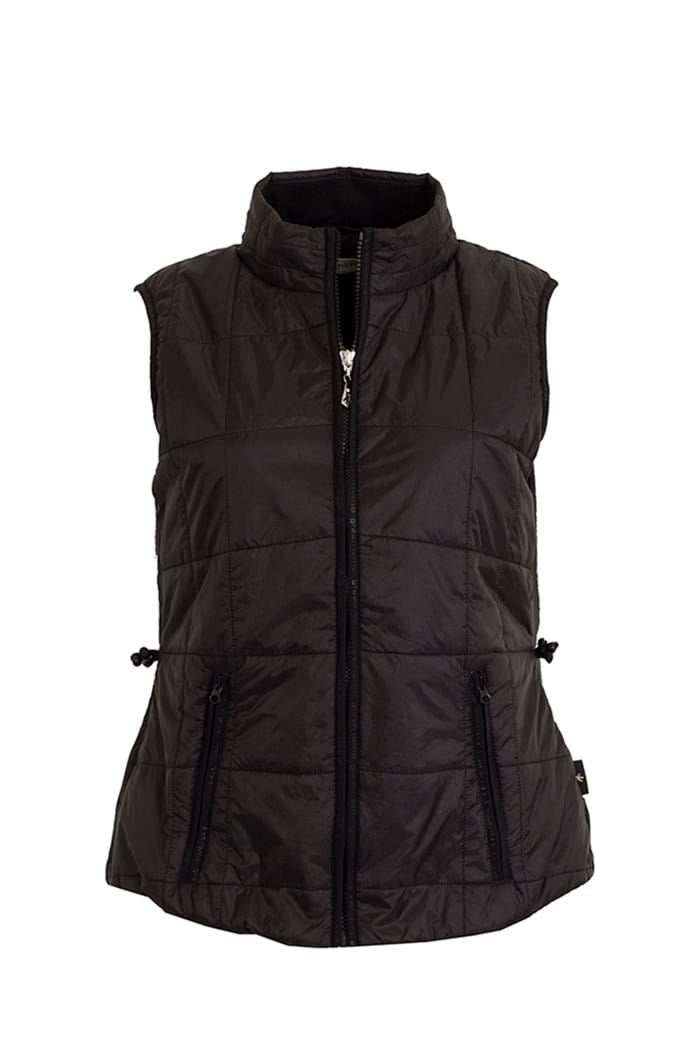 Picture of Green Lamb Jemima Printed Padded Gilet - Black