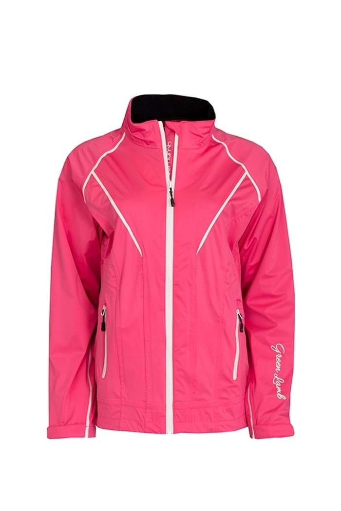 Picture of Green Lamb ZNS New Hush Waterproof Jacket - Cerise/White