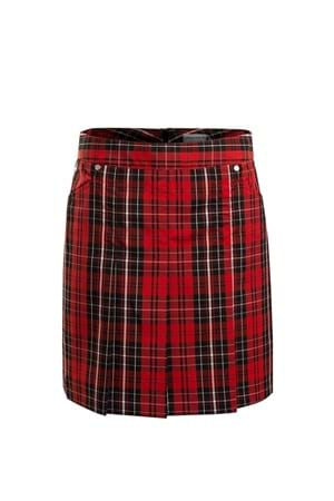 Picture of Green Lamb zns Trady Pat Pleat Skort - Berry Tartan