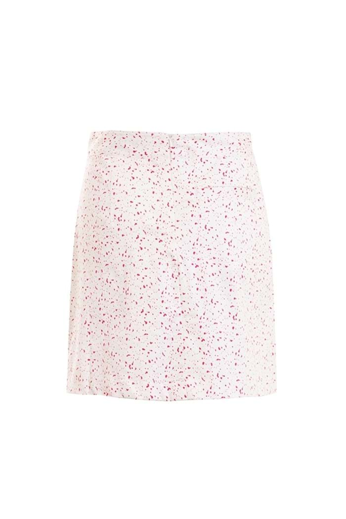 Picture of Green Lamb ZNS Trady Pat Pleated Skort - White/Fuchsia