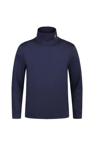 Picture of Oscar Jacobson Birk Classic Rollneck - Navy