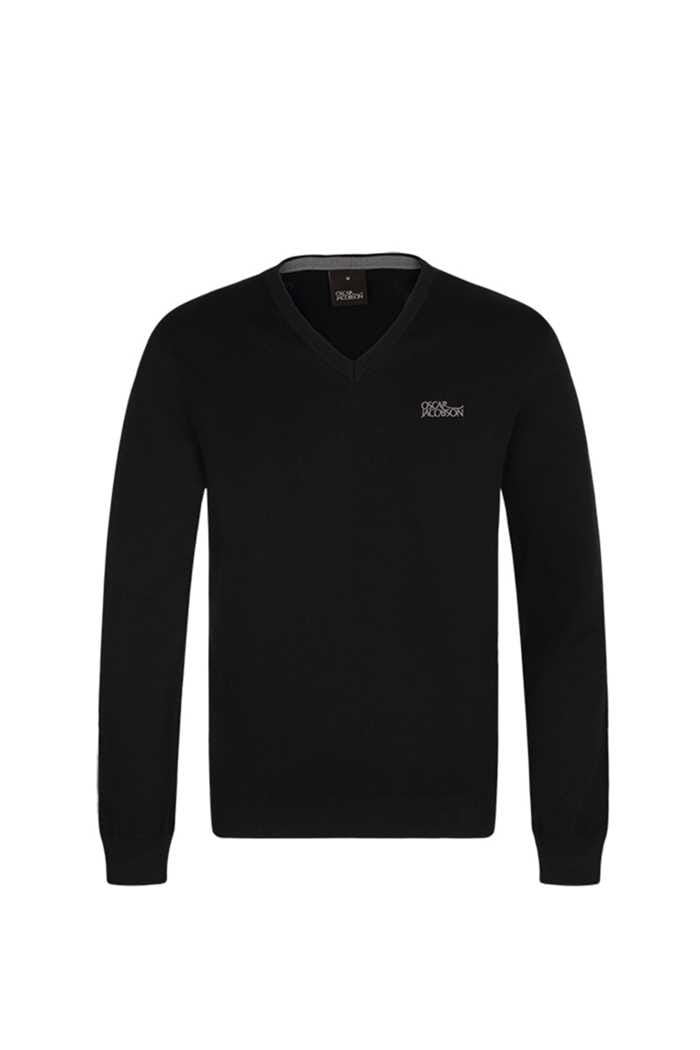 Picture of Oscar Jacobson ZNS Bobby Tour V-Neck Sweater - Black
