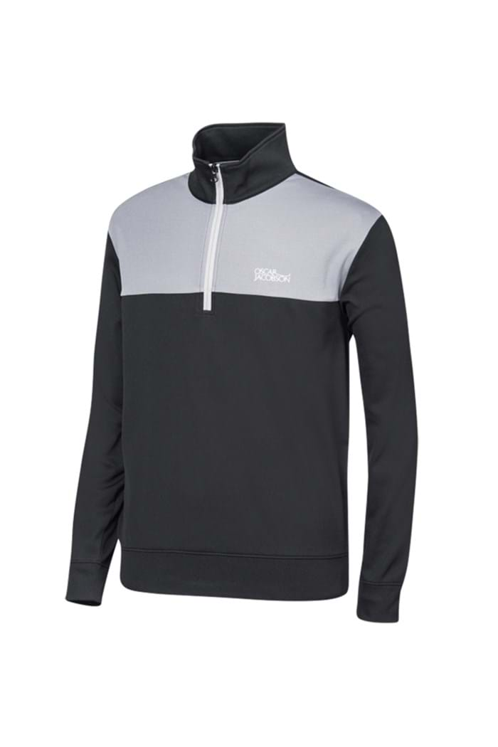 Picture of Oscar Jacobson ZNS Pock Tour Half Zip - Black/Grey