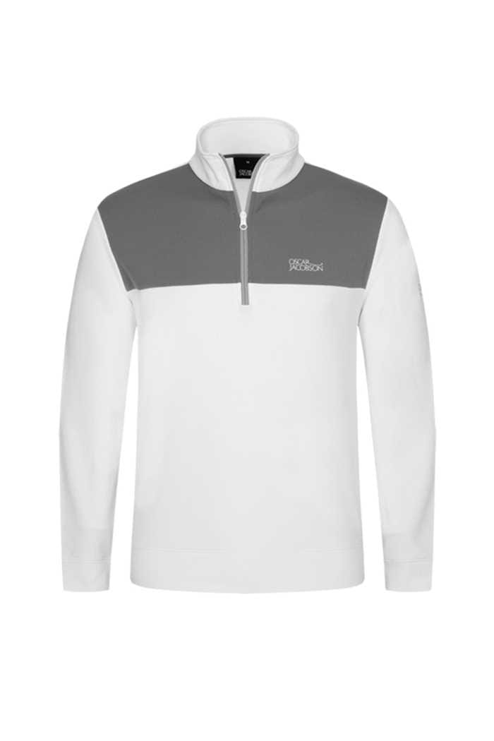 Picture of Oscar Jacobson ZNS Pock Tour Half Zip - White/Grey