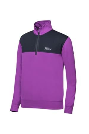Picture of Oscar Jacobson Pock Tour Half Zip Top - Purple/Black