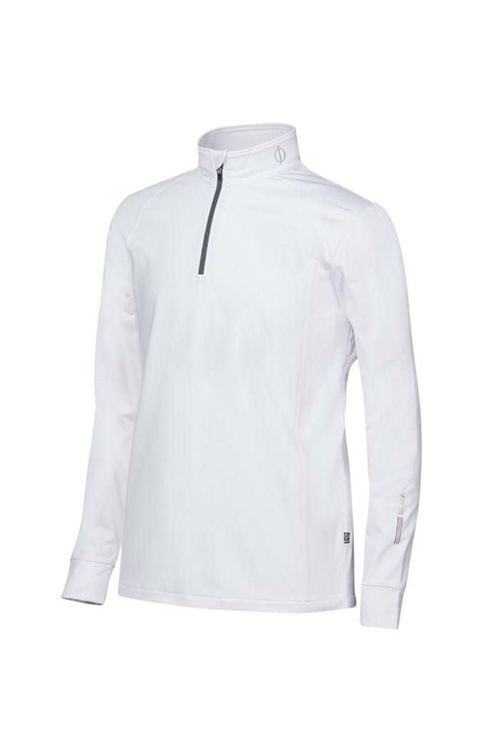 Picture of Oscar Jacobson ZNS Rock Thermal Half Zip Top - White