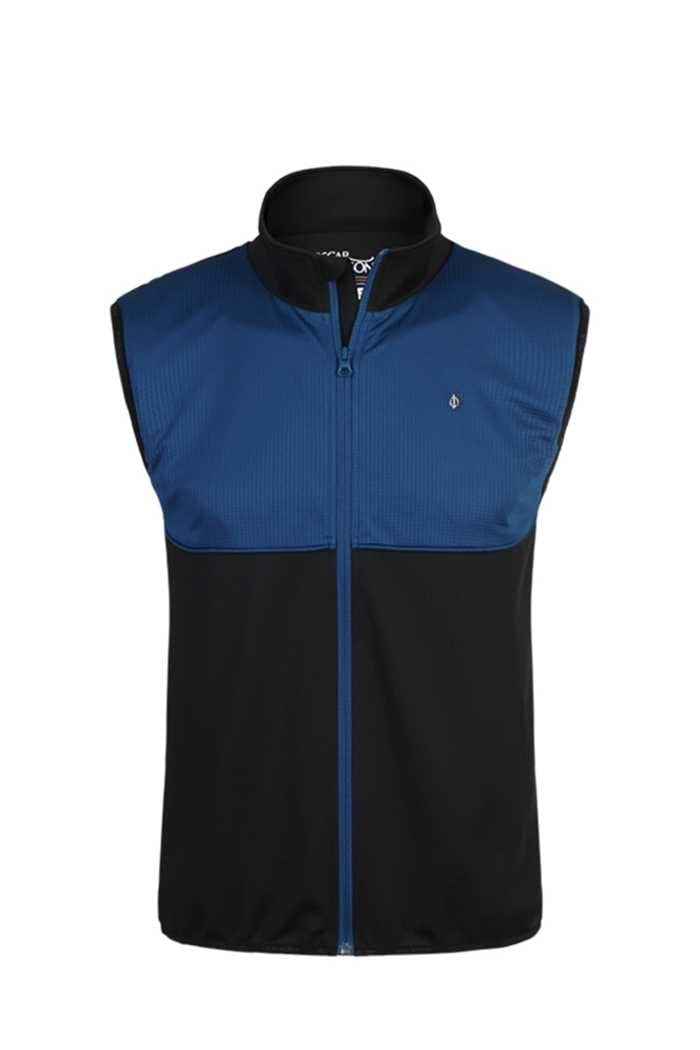 Picture of Oscar Jacobson Nevin Vest/Gilet - Black/Blue