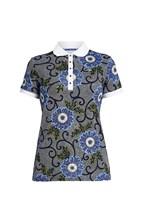 Picture of Rohnisch zns AOP Polo Shirt - Blue Maasal Flower