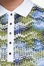 Picture of Rohnisch zns  AOP Polo Shirt - Blue Shell Ocean Ripple