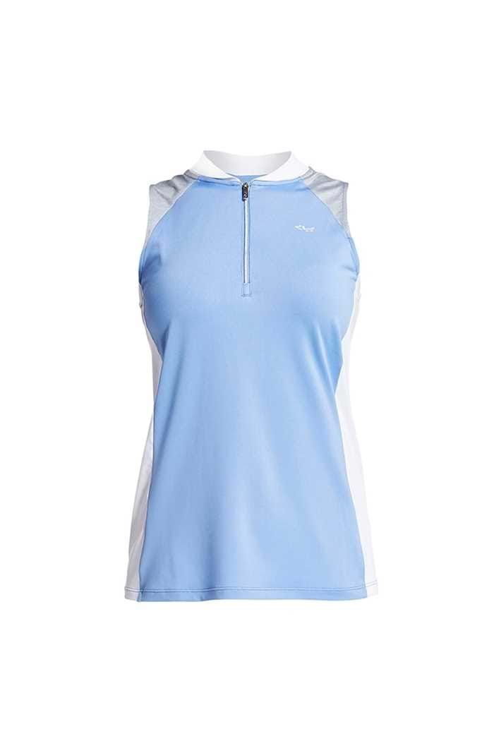 Picture of Rohnisch zns Block Sleeveless Polo Shirt - Blue Shell