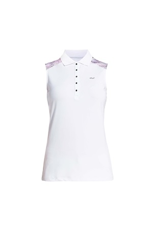 Picture of Rohnisch Print Sleeveless Polo Shirt - Cherry Blossom Ocean Ripple