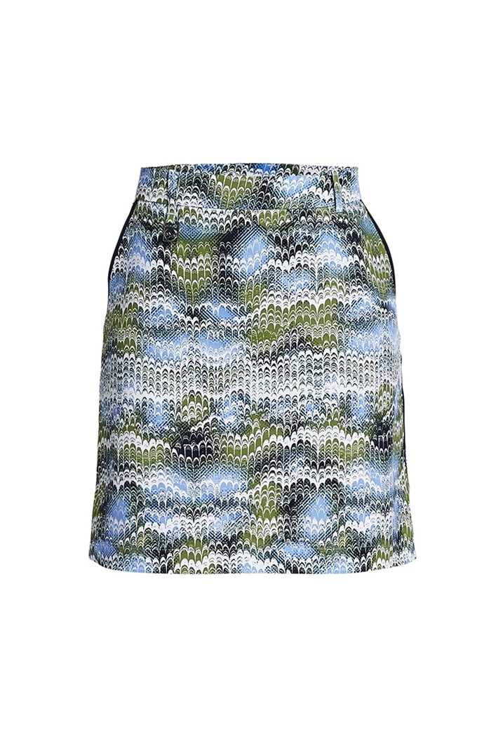 Picture of Rohnisch zns Kia Skort/Skirt - Blue Shell Ocean Ripple
