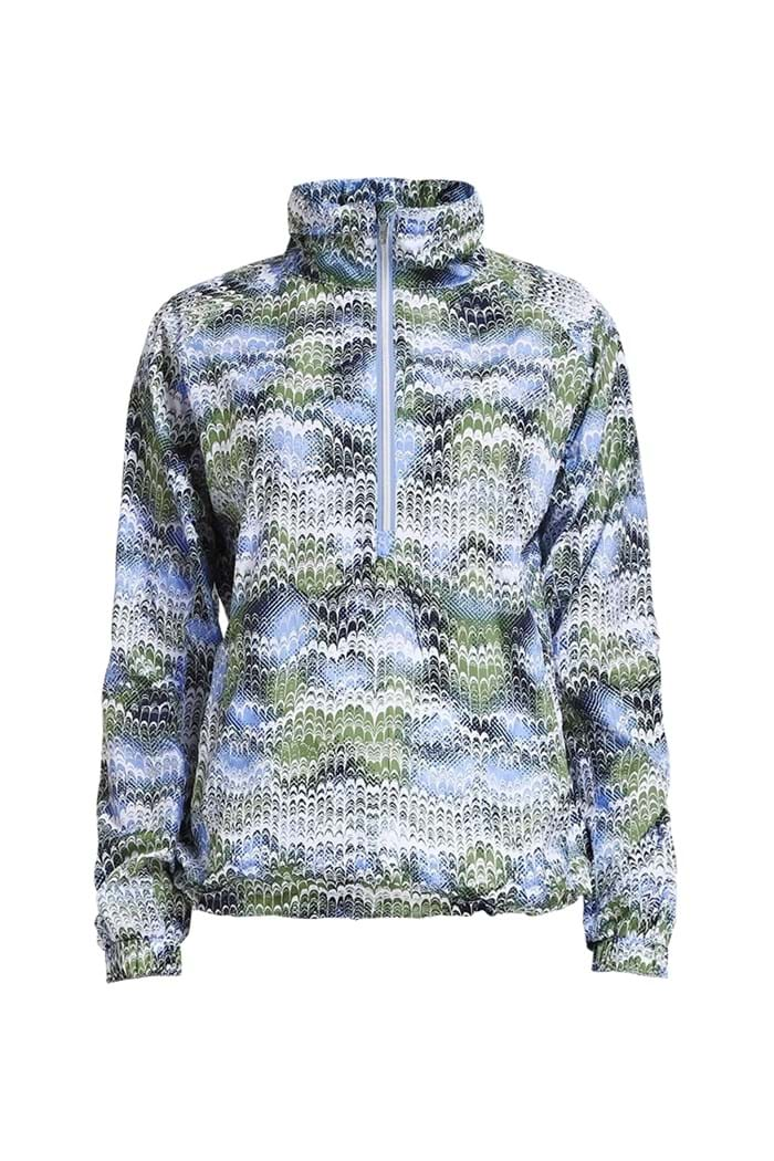 Picture of Rohnisch Ladies Marta WB 1/2 Zip - Blue Shell Ocean Ripple