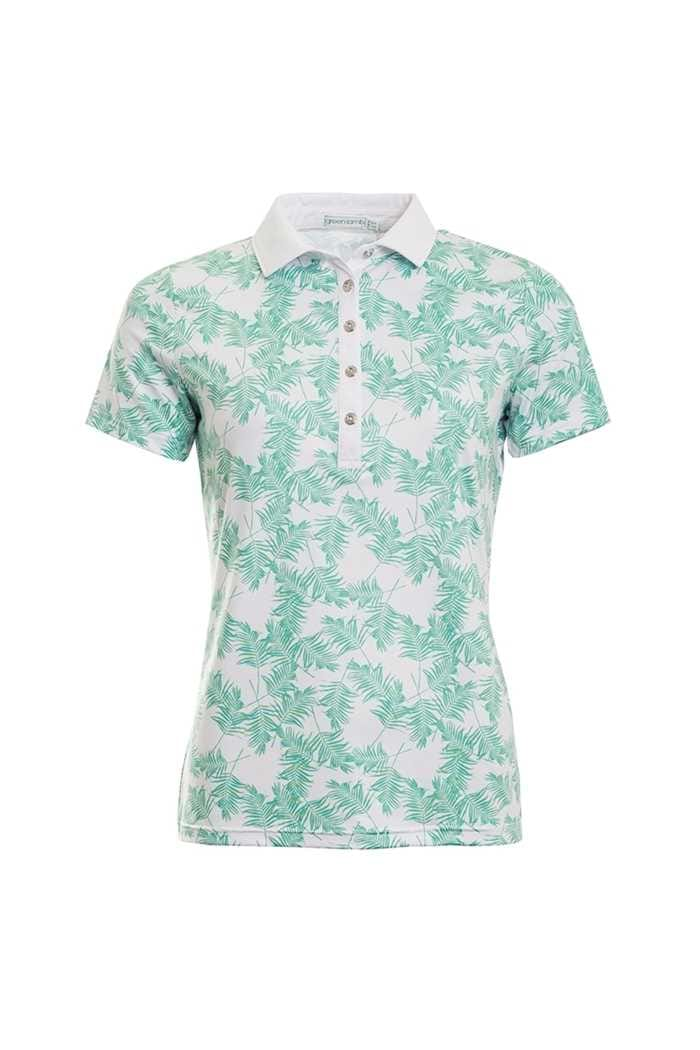 Picture of Green Lamb Patrice Printed Polo Shirt - Green