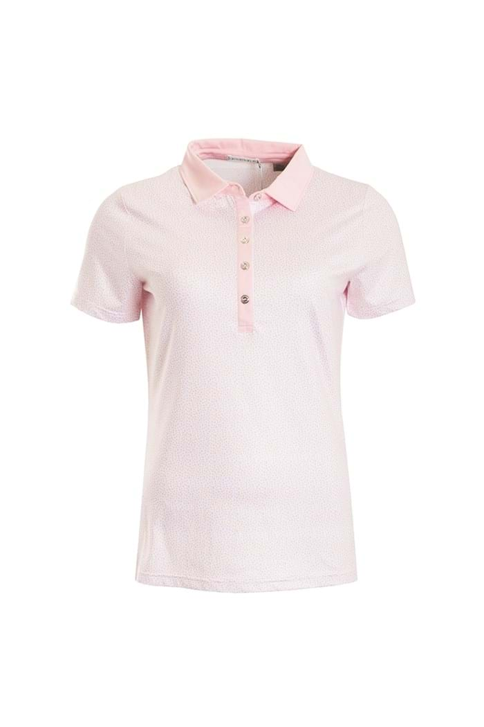Picture of Green Lamb Patrice Printed Polo Shirt - Pink