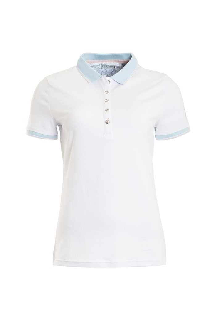 Picture of Green Lamb zns Patsy Jersey Club Polo Shirt - White / Blue