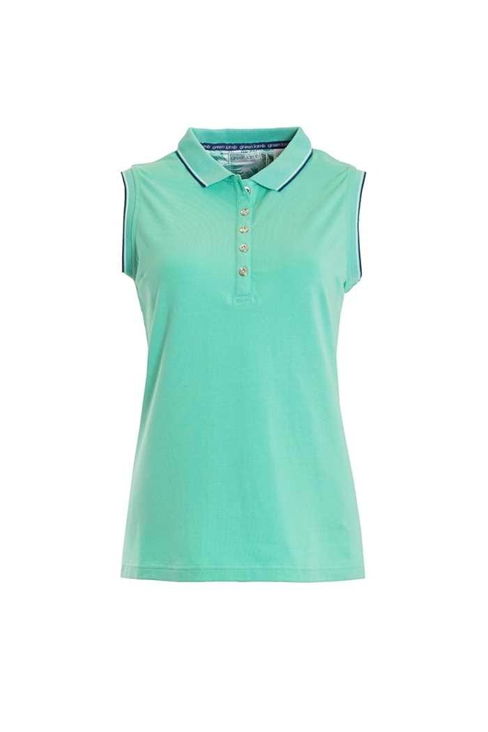 Picture of Green Lamb zns Paulina Jersey Club Sleeveless Polo - Green