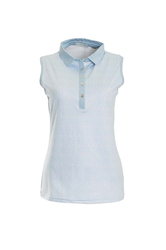 Picture of Green Lamb Pearl Sleeveless Polo Shirt - Blue