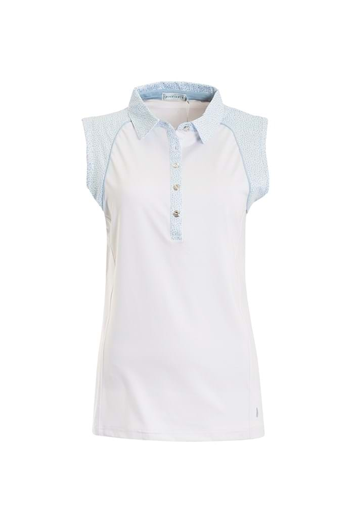 Picture of Green Lamb Piper Sleeveless Polo Shirt - White / Blue