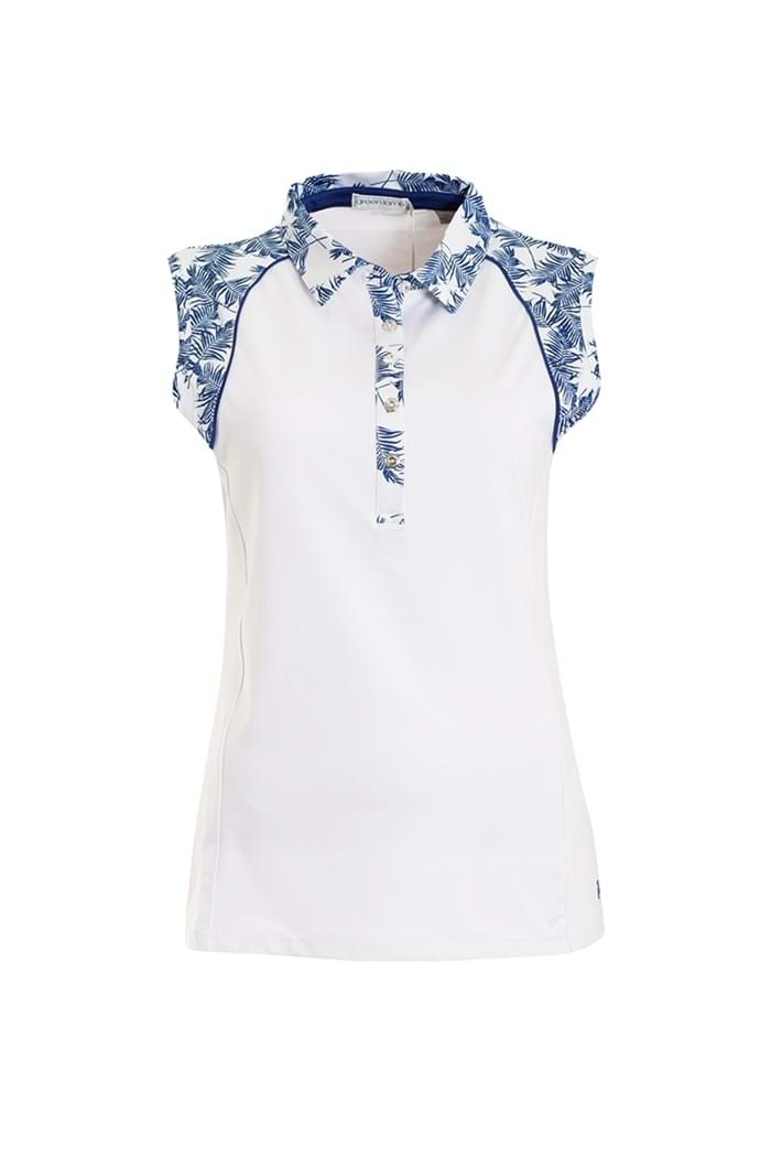 Picture of Green Lamb ZNS Piper Sleeveless Polo Shirt - White / Ocean